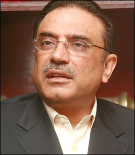 The Pakistani President Mr. Asif Ali Zardari