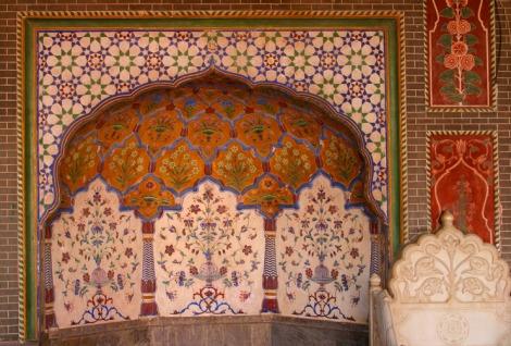 Intricate Decorative Designs in Marble